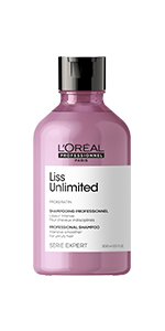 LOreal Professionnel Serie Expert Liss Unlimited Shampoo for smooth frizz free hair