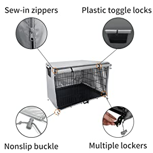 Cage kennel cover.And the dog cage is ont included.