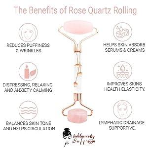 Benefits highlights of using rose quartz jade rolling