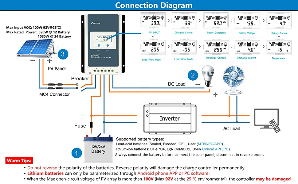 epever charge controller