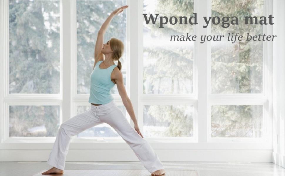 De yogamat van Wpond is geschikt voor verschillende sporten zoals yoga, fitness, oefeningen, gymnastiek