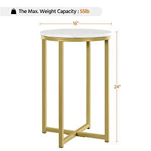 Specifications of Round End Table:Specifications of Round End Table: