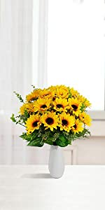 fake flowers artificial sunflowers for outdoor