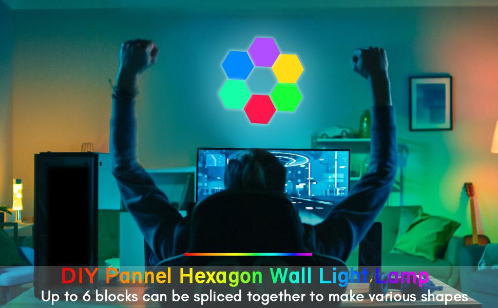 hexagon wall light lamp