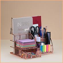 Desk Organizer Women Home Office Accessories Supplies Decor Girly