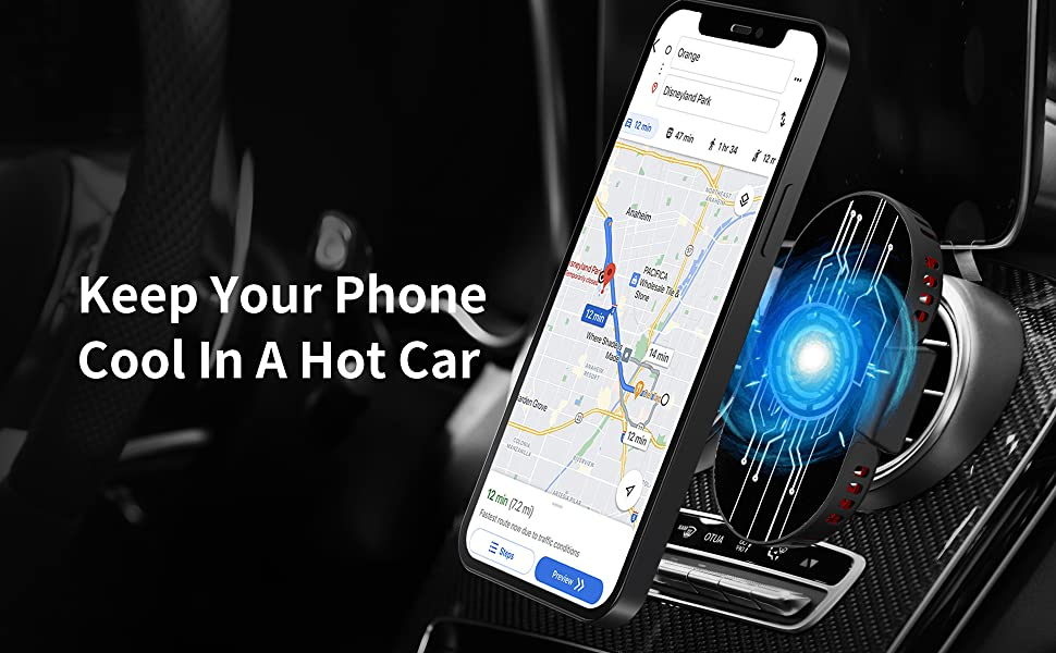 phone cooler in car