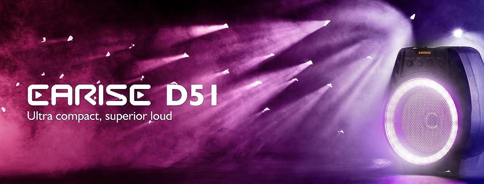 EARISE D51 Speaker Banner
