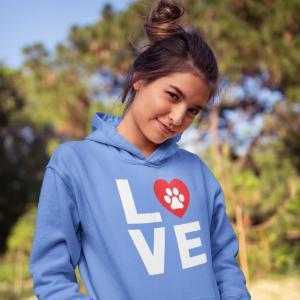 love dogs hoodie teen girls hoodie teen girls sweatshirt women hooded top