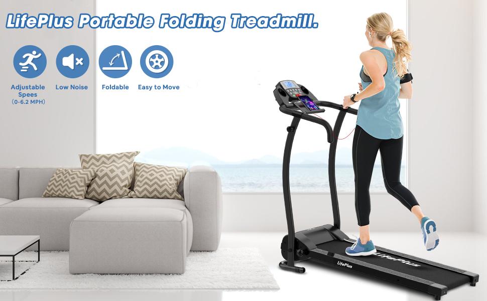 Protable folding treadmill