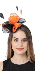 Halloween Fasciantors for Women Tea Party Fascinator Hat Cocktail PartyHeadwear