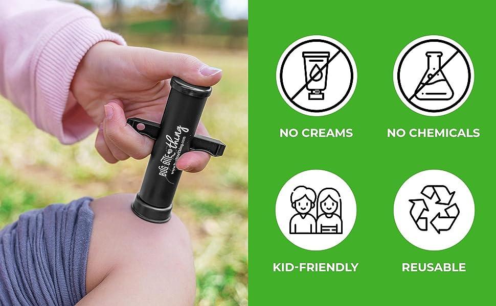 No creams, no chemicals, kid-friendly, reusable.