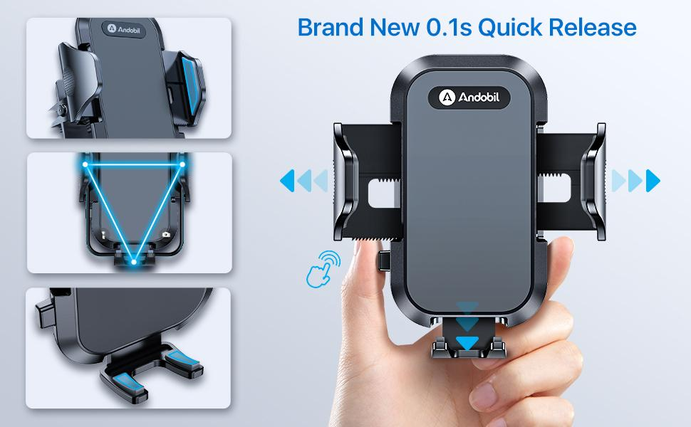 car phone holder with newest quick release deign
