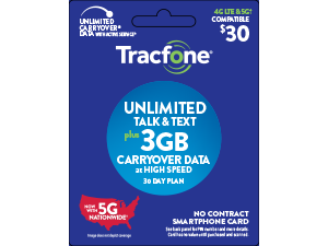 tracfone unlimited talk,text and 3GB of data