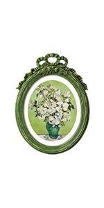 green vintage frame