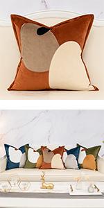 dark orange pillow cover