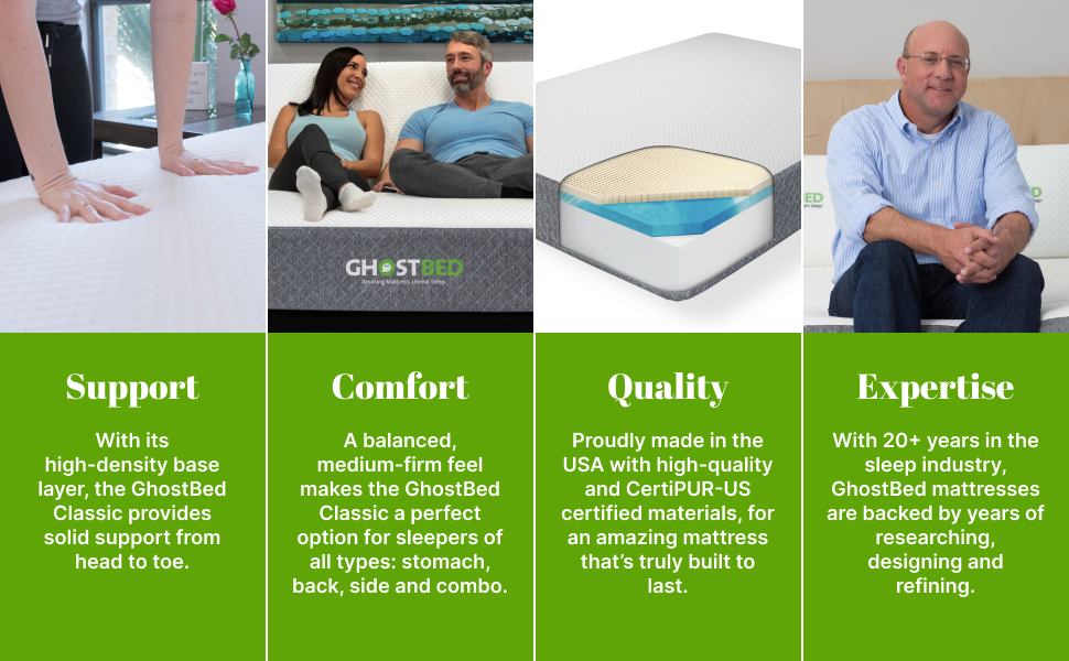Support, Comfort, Quality, Expertise