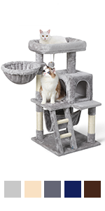 Cat Tree Cat Tower for Indoor Cats, Multi-Level Cat House Condo with Large Perch