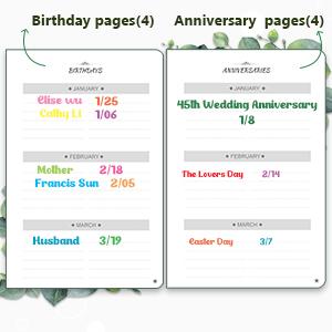 Birthdayamp;Anniversary Pages