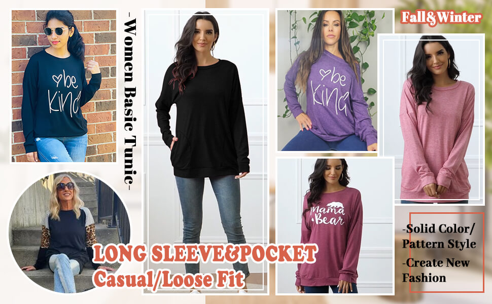 womens t shirts long sleeve