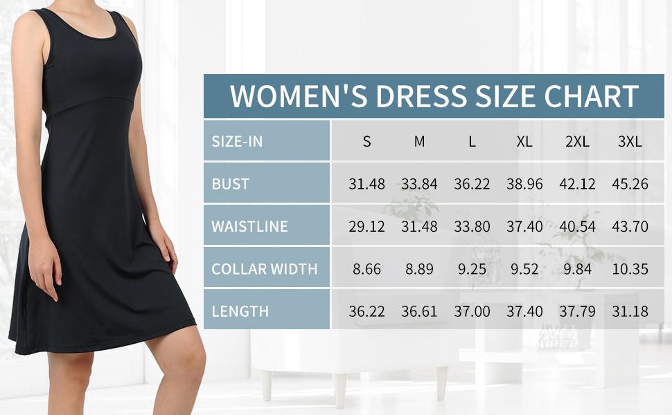 Dresses Size Table