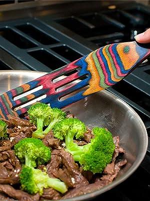 salads easy to clean serving draining pots pans lightweight durable gentle 4-piece set spurtle