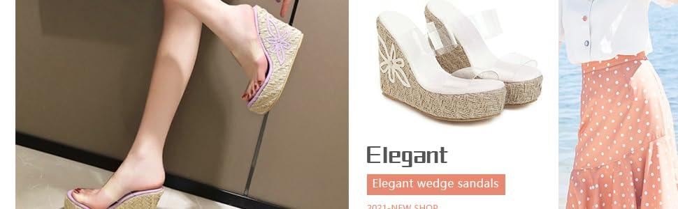 women summer platform wedge sandals