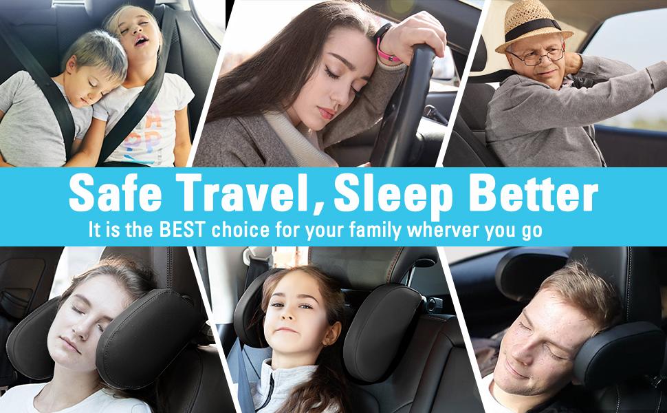 Car Seat Headrest Pillow