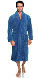 TowelSelections Mens Cotton Robe, Terry Cloth Luxury Spa Bathrobe
