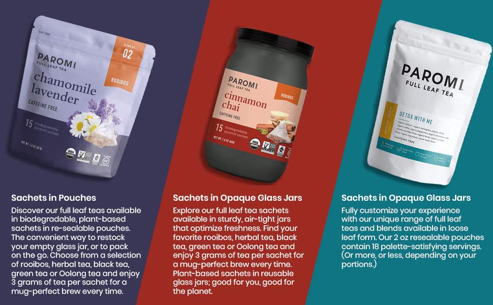 Paromi three vareities of packaging