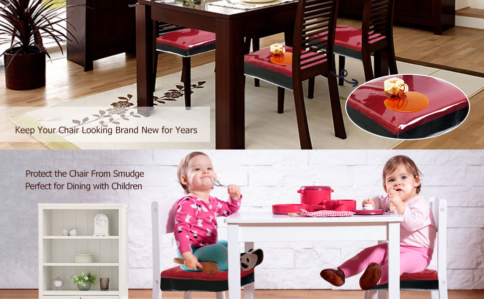 Plastic chair cover for dining room