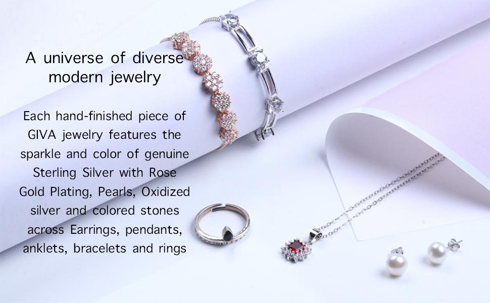 jewellery sets bracelets earrings anklets rings coloured stones sterling silver 925 hallmarked