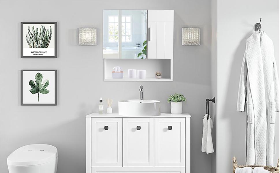 bathroom wall cabinet white