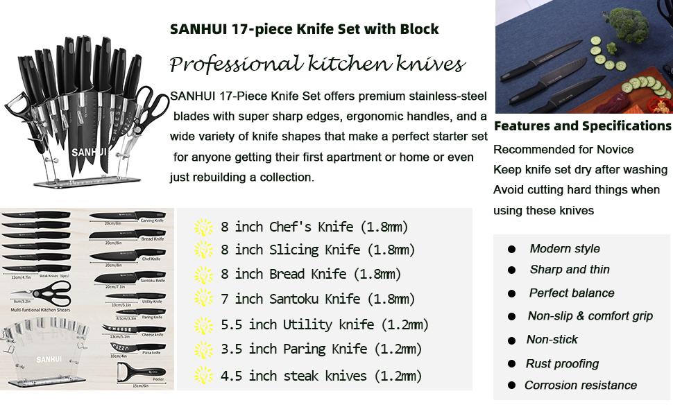 knife set wifh block