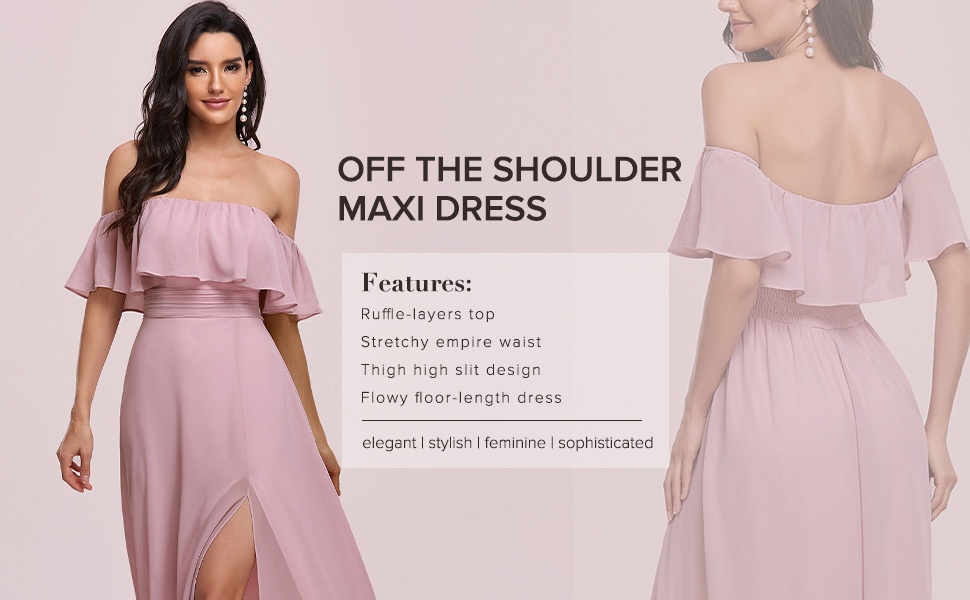 long evening dresses formal wedding guest dresses prom dresses with ruffle sleeves maxi party dress