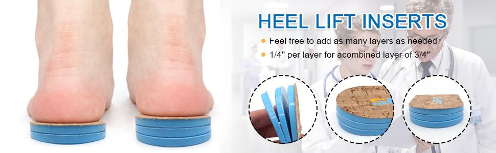 Adjustable Orthopedic Heel Lift Inserts for Leg Length Discrepancies
