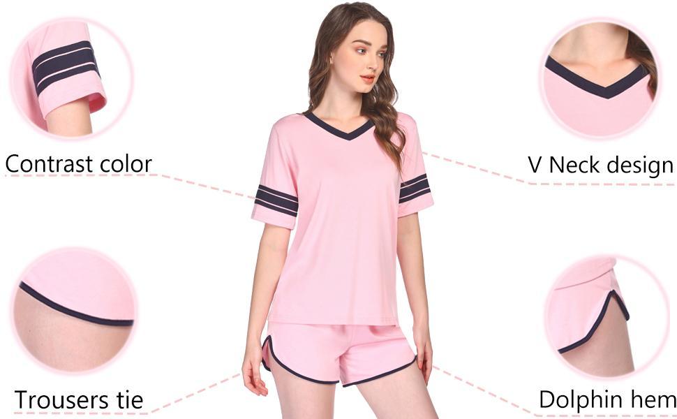 summer pajama set short sleeve