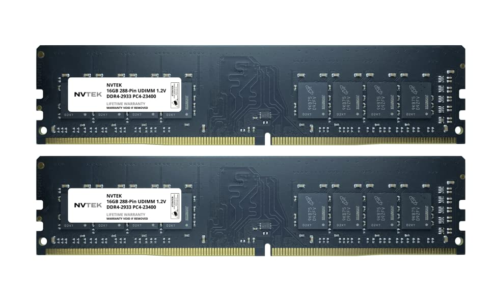 32GB 2x16GB DDR4 2933 UDIMM Module Image