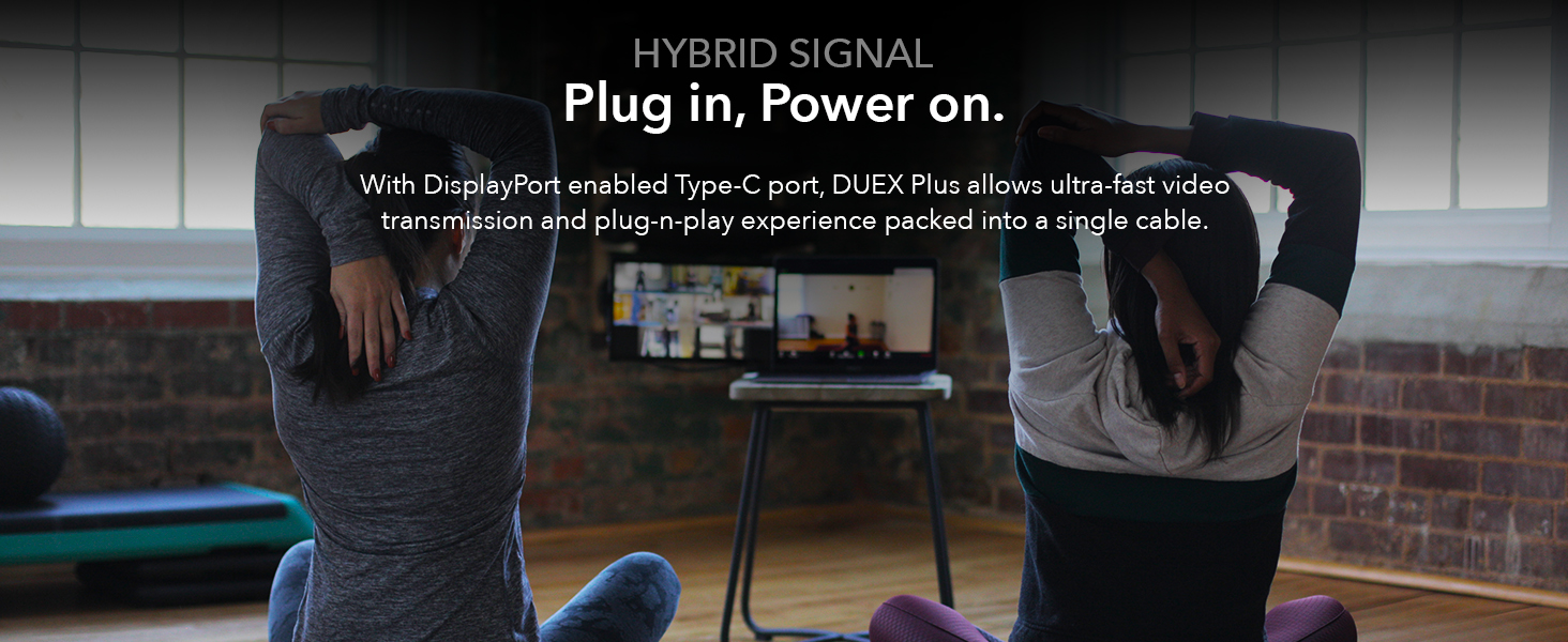 Hybrid signal type c usb a compatible