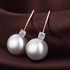 Orecchini perle Swarovski  oro rosa