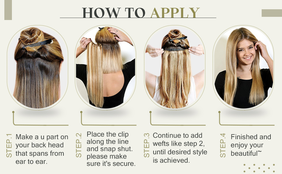 how to apply clip in hair extensions seamless