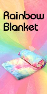 rainbow tie dye blanket