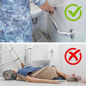 Safety  grab bar for bathroom