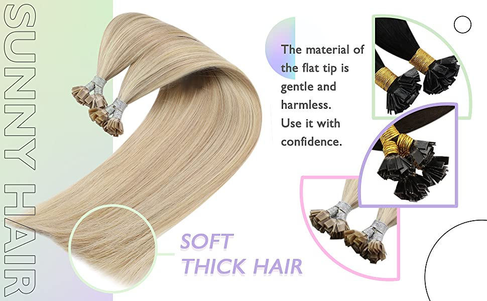 sunny u tip hair extensions flat tip hair extensions human hair pre bonded hair extensions