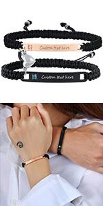 personalized couple bracelet