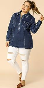 plus size jeans jacket