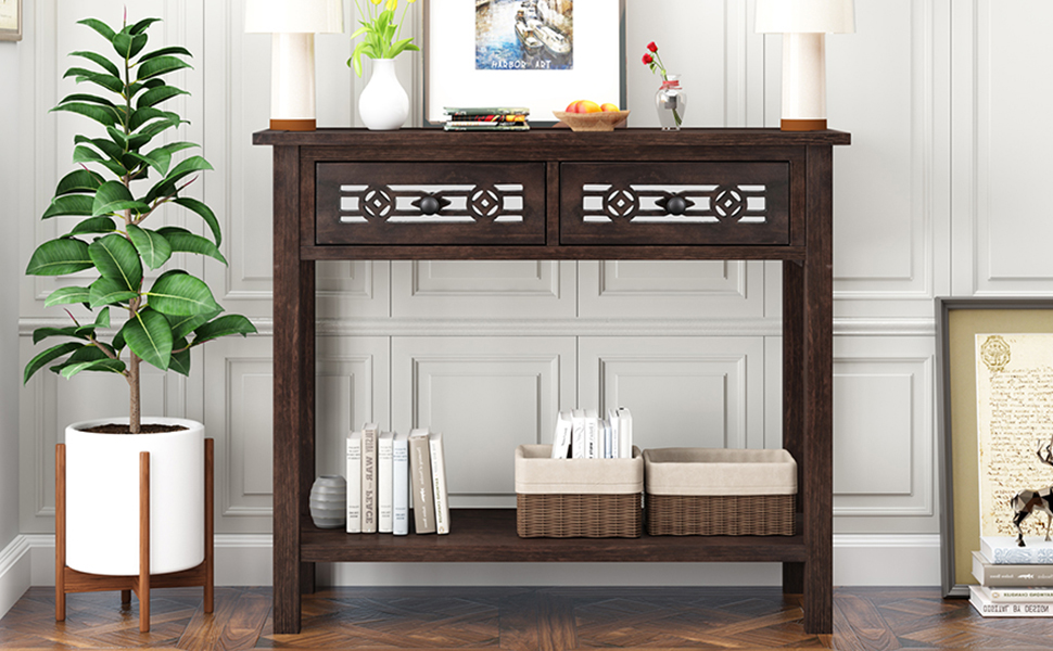 console table with drawer for living room