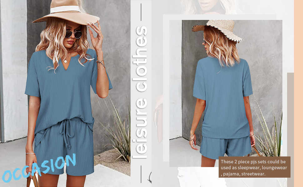 2 piece lounge outfits for women