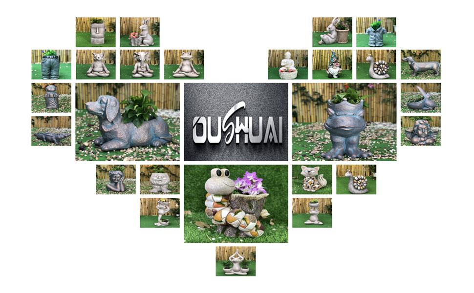 garden statue planter