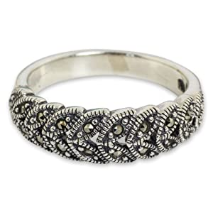 NOVICA,Gemstone,Silver,Floral Design ,Cocktail,Ring,Jewelry ,Metal,Band,Gift,For Women,Fashion,Leaf