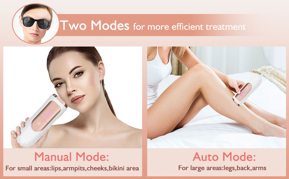 Hair Removal Device Two Modes